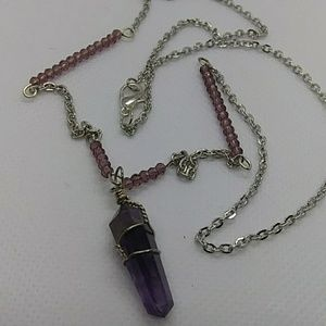 Amethyst stone pendant necklace